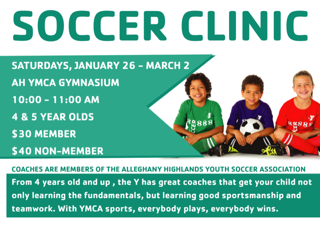 YMCA Indoor Soccer for 4 - 5 year olds